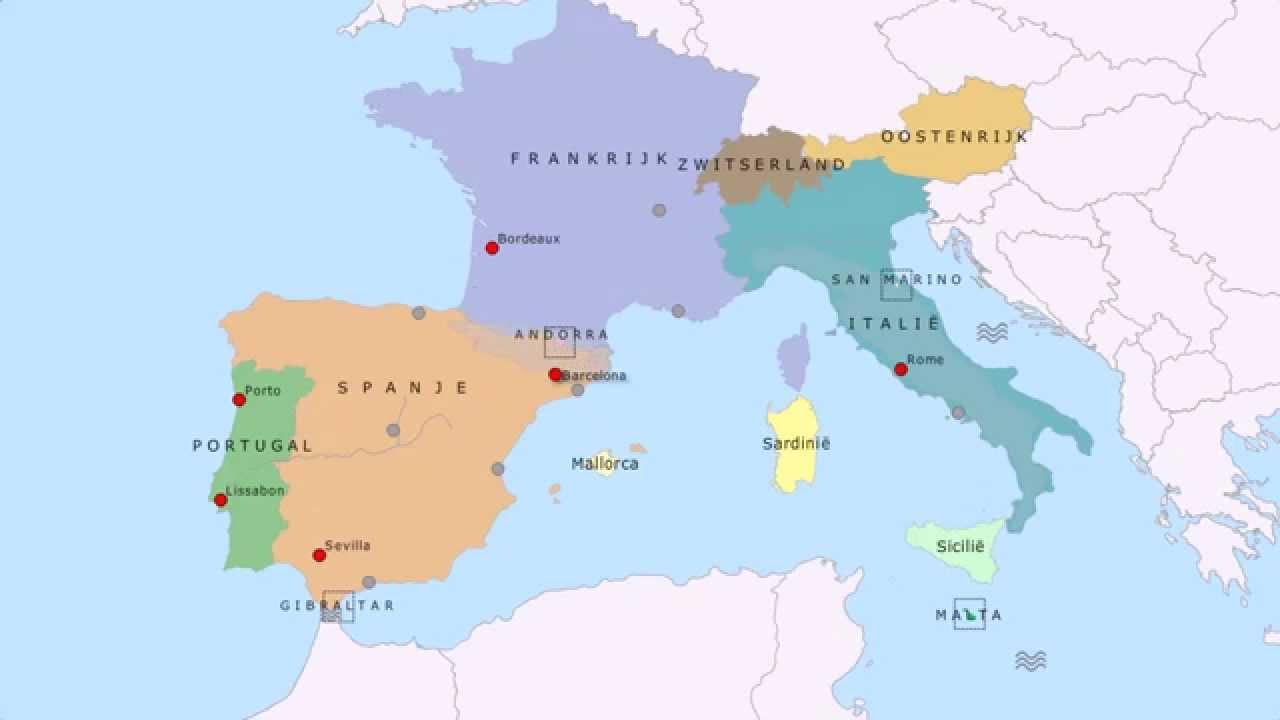 Topografie Zuidwest Europa Www Topomania Net
