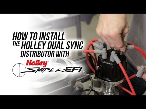 How To Install The Holley Dual Sync Distributor with Sniper ... Fast Dual Sync Wiring Diagram on