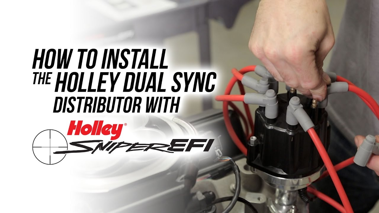 hight resolution of how to install the holley dual sync distributor with sniper efi