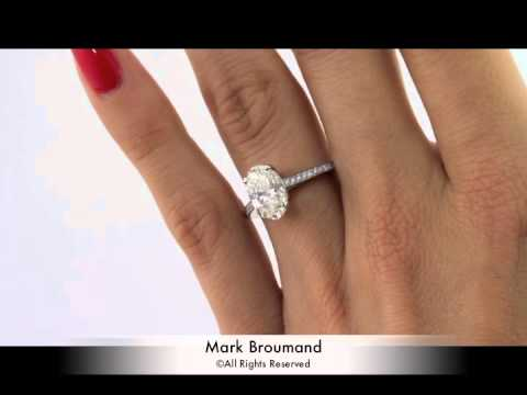 35ct oval cut diamond engagement anniversary ring mark broumand
