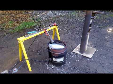 DIY metal foundry, casting zinc weights