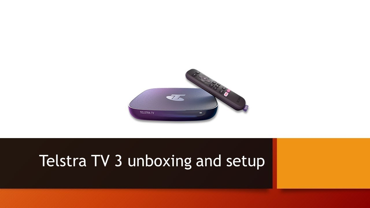 Telstra TV 3 unboxing and setup