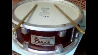 homemade snare drum in low budget
