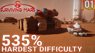 Surviving Mars 535% HARDEST DIFFICULTY - Part 01 - Paradox, Futurist - Gameplay (1440p)