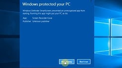 """How to Disable Warning Message """"Windows Protected Your PC"""" on Windows 10"""