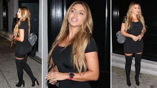 Larsa Pippen Rocking Knee-High Boots For Dinner At Craig's