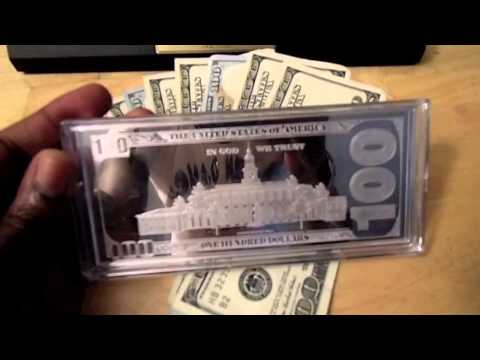 $100 Bill Made From Gold, Silver And Paper - Which Would You Choose?