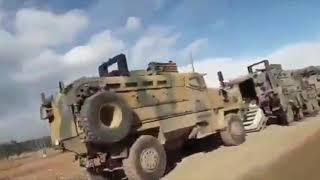 Огромная колона турецких войск направляется в Идлиб
