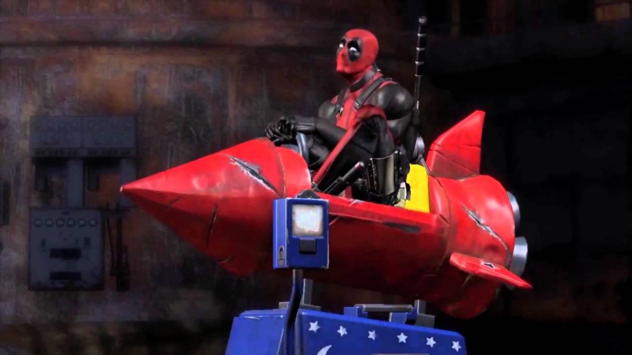 Deadpool Rides A Rocket For 10 Minutes Youtube