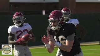 Highlights From Alabama's Spring Practice On Wednesday, March 24