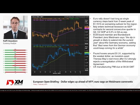 Forex News: 01/02/2019 - Dollar edges up ahead of NFP; euro sags on Weidmann comments