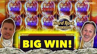 High Limit Gold N Link Slot Machine Bonus Big Win @ $10 a Spin! Tampa Hard Rock Casino