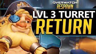 Overwatch Respawn #70 - Torbjorn's Level 3 Turret Return? Zarya more bubbles!?