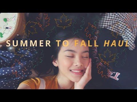 SUMMER TO FALL FASHION HAUL | hyulari