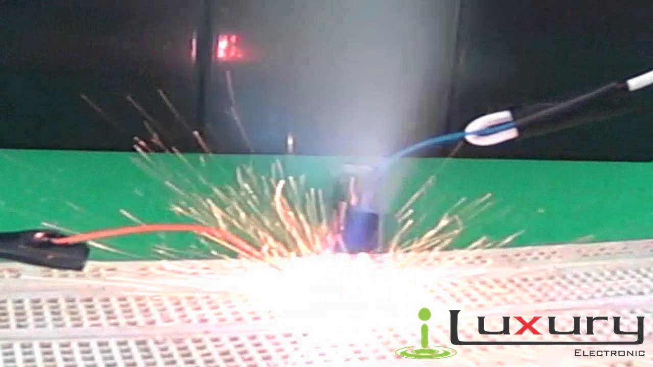 Explosion De Condensador Electrolitico 1000 Mf 16v