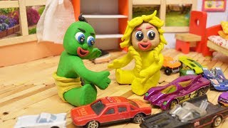 LEARN COLORS WITH SUPERHERO BABIES AND TOYS - Stop Motion Animation Cartoons