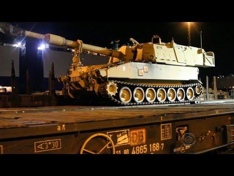 U.S. tanks deployed in Germany