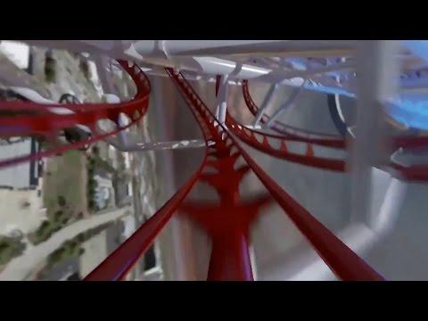 Skyscraper World's Tallest Roller Coaster POV - Skyplex Orlando