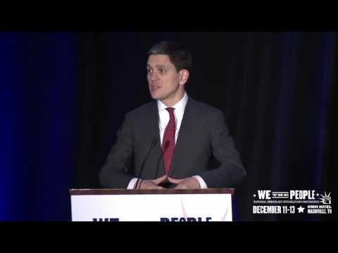 David Miliband at the National Partnership for New Americans
