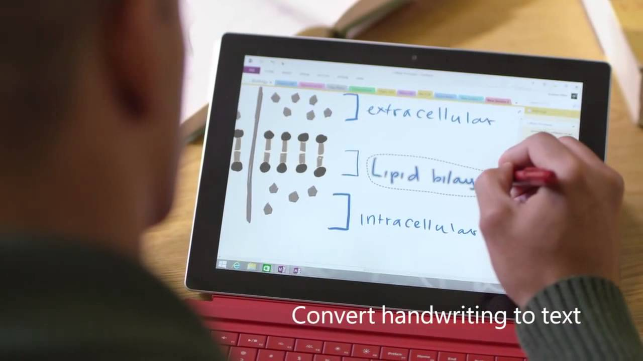 Microsoft - Converting handwriting to text with Surface