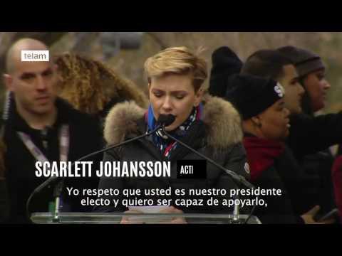Madonna y Scarlett Johansson encabezaron marcha contra Trump