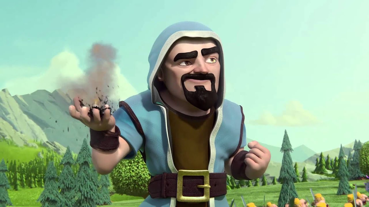 Clash Of Clans Wizard Hair Hype Man Animation Youtube