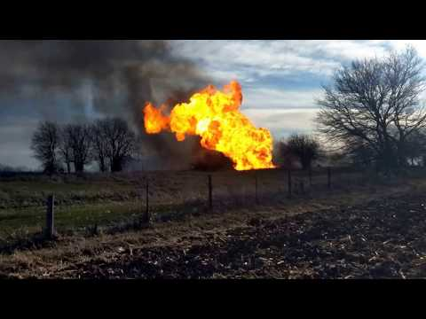 Dixon fire - Natural gas explosion and main break