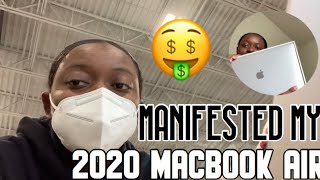 I MANIFESTED MY 2020 MACBOOK AIR| UNBOXING 🤑
