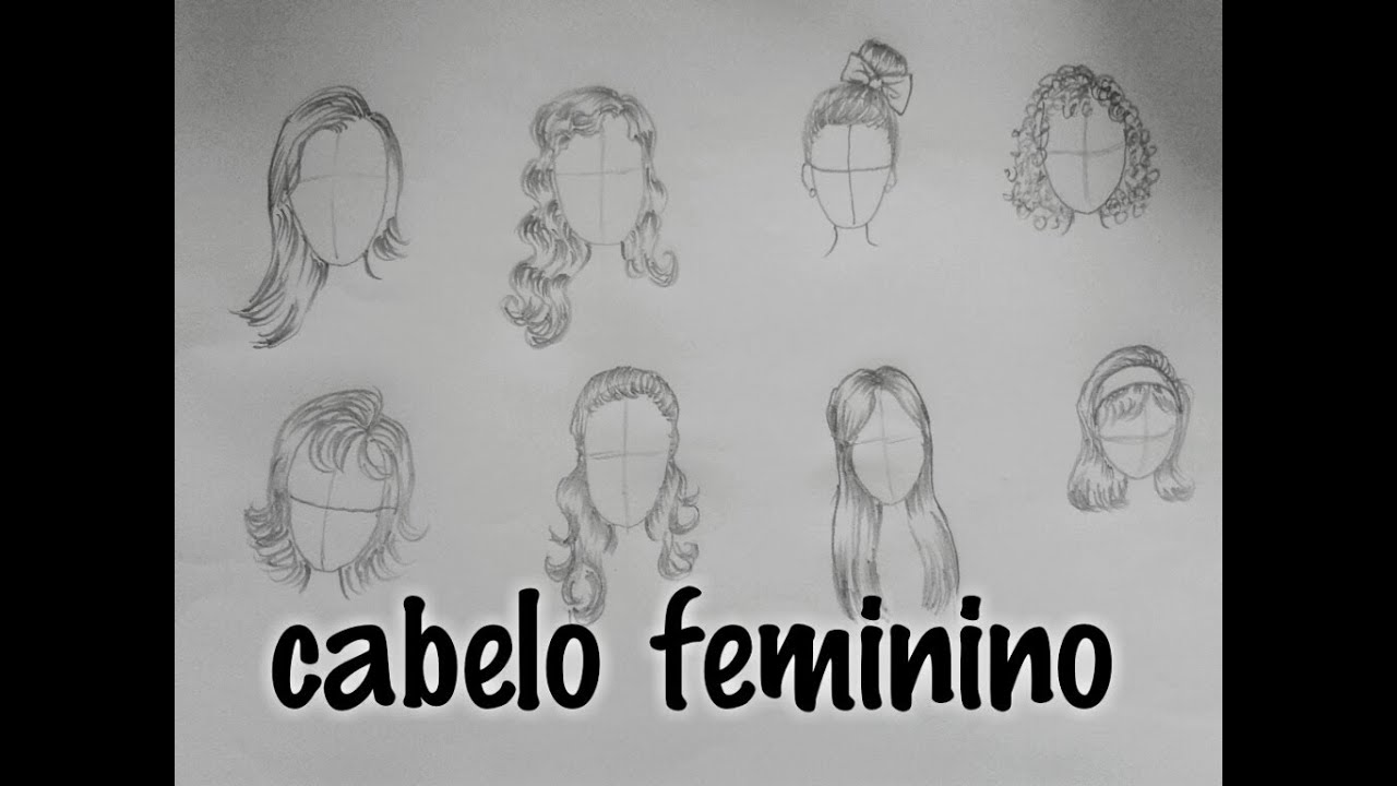 Como Desenhar Cabelo Feminino Youtube