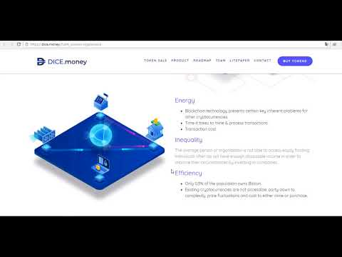 DICE Money - NEXT GENERATION CRYPTOCURRENCY BRINGS YOU CROWDMINE FUNDING