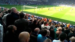 Man utd fans singing away at west brom . Fergie