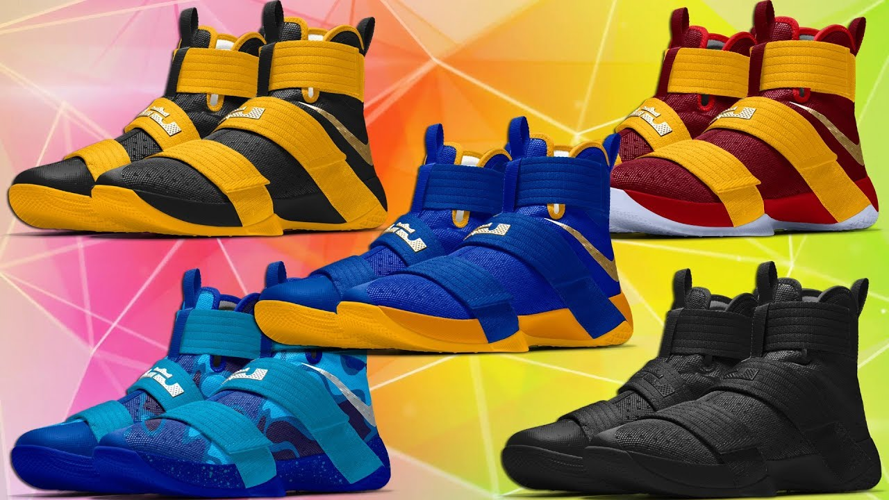 d8a6704614054 TOP 5 NIKE LEBRON SOLDIER 10 COLORWAYS CUSTOM NIKE ID - YouTube