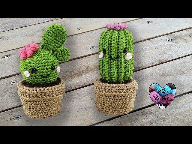 Cactus nopal tejido en crochet (amigurumi) - YouTube   Cacto de crochê   480x640