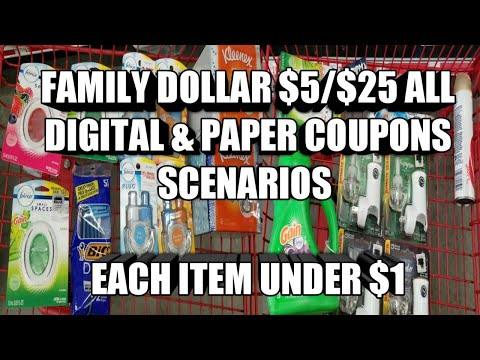 FAMILY DOLLAR $5/$25 ALL DIGITAL & PAPER COUPON SCENARIOS | EACH ITEM UNDER $1| CHEAP GLADE PRODUCTS