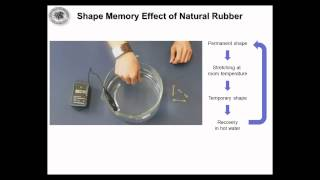 Shape Memory Effect of Natural Rubber