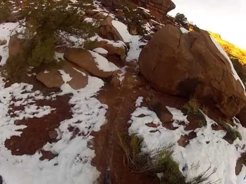 Captain Ahab Trail, Moab, UT...in the snow, on an XC hardtail