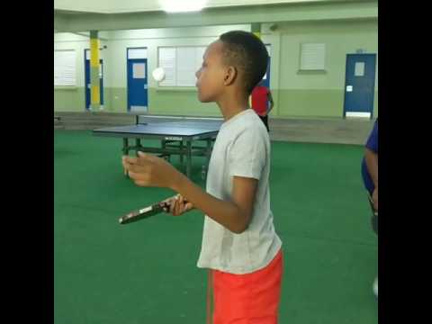 Caribbean Unity Sports putting in the work with the kids from Sean Stanley Table Tennis Association