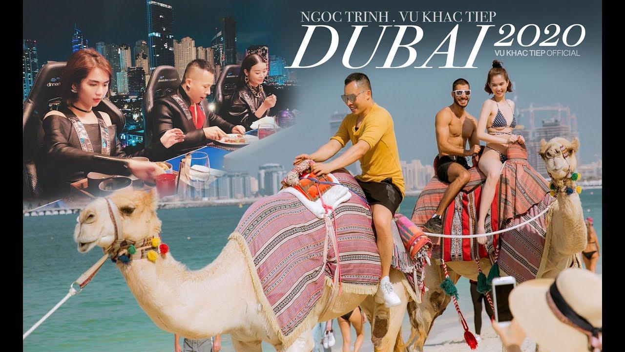 [Tập 22] Ngọc Trinh - Khắc Tiệp chơi lớn mặc bikini cưỡi lạc đà trên biển, ăn tối trên không ở Dubai