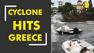 Cyclone leads to flash floods in Greece