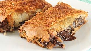 Слоёный Пирог с Шоколадом и Черносливом