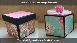 Explosive Surprise Box | DIY | Unexpected Gift | Explosion box | transformable box