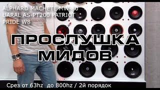 прослушка мидбасов Alphard Pride Ural