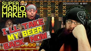 DASHIE, I'LL TAKE BACK MY BEER, NOW - Super Mario Maker - Dashie Games levels with Oshikorosu!