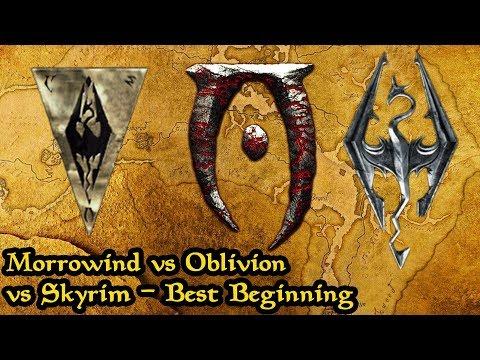 Morrowind Vs Oblivion Vs Skyrim Analysis Which Elder Scrolls Game Has The Best Beginning?