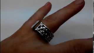 Кольцо плетение тайский серебро. Ручная работа. Серебро 925 пробы.