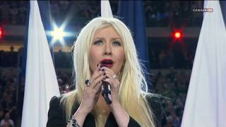 Christina Aguilera & Lea Michele - Sing Himno EUA [Superbowl XLV 2011] High Definition
