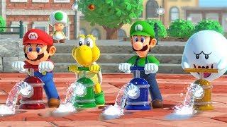Super Mario Party - Mario and Luigi vs Koopa and Boo