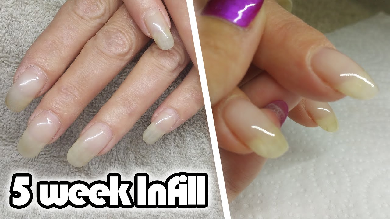 5 week Acrylic Infill | Natural Acrylic Overlay - YouTube