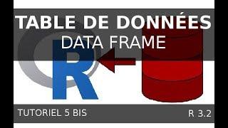 Tutoriel 05 Bis R -  Manipuler une table de données (data frame)