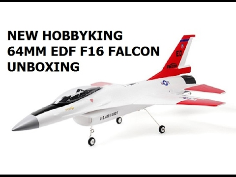 Unboxing Hobbykings new F16 Falcon 64mm edf EPO 670mm span Jet